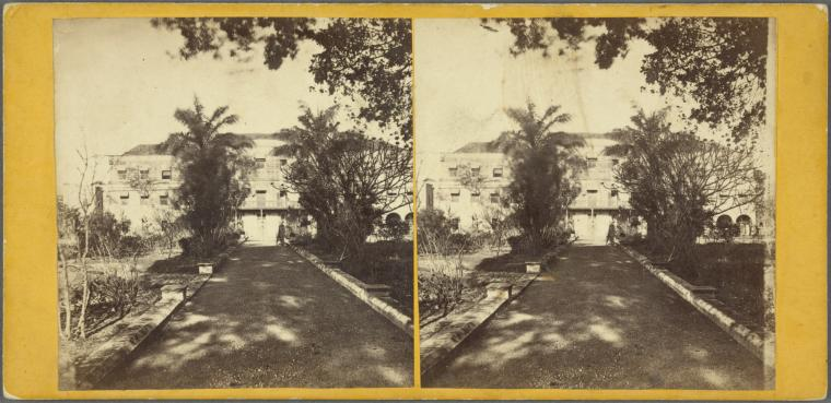 Back of Government House, Barbados, 1865 (Credit Schomburg Center for Research in Black Culture, Photographs and Prints Division)
