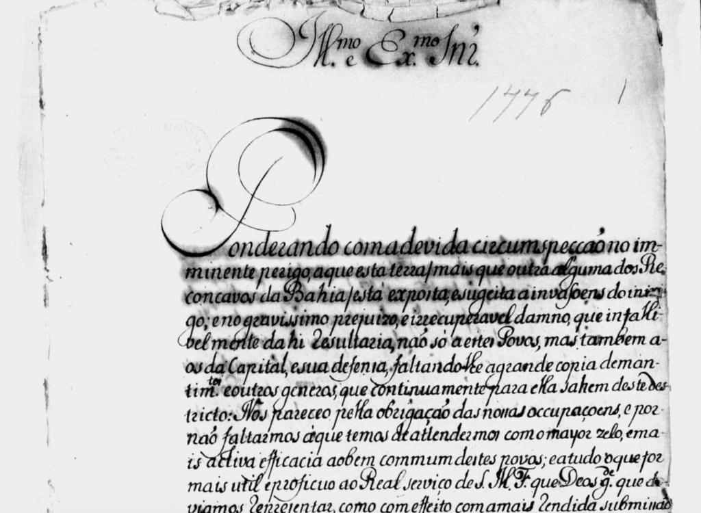 Letter from the . Courtesy of Biblioteca Nacional of Rio de Janeiro.