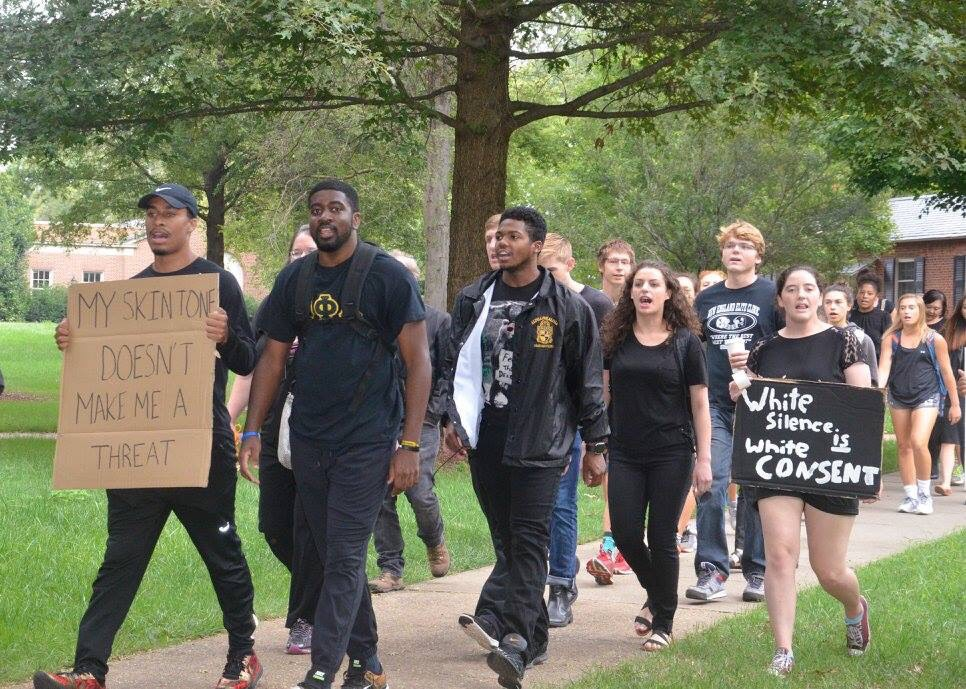 Davidson College Students March in Support of Blacks Lives Matter and Protests in Charlotte, NC