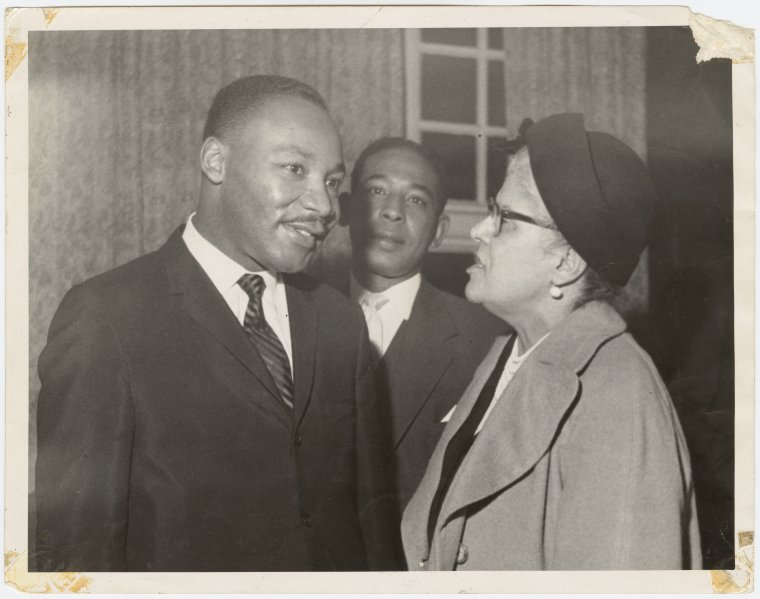 Martin Luther King, Jr. and Eslanda Goode Robeson (Credit Schomburg Photographs and Prints Division, Claudia Jones Memorial Photograph Collection)