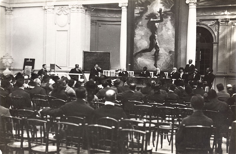 Second Pan-African Congress at the Palais Mondial in Brussels, Belgium, during September 1921 (PD-1923)