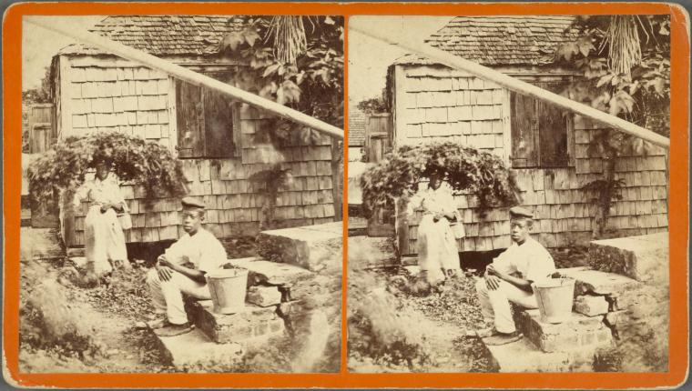 Two Barbadians in 1865 (Credit Schomburg Center for Research in Black Culture, Photographs and Prints Division)