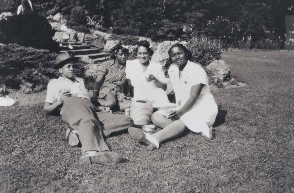 Young Malcolm X in Roxbury, MA with Ella Collins. Source: Wikipedia.