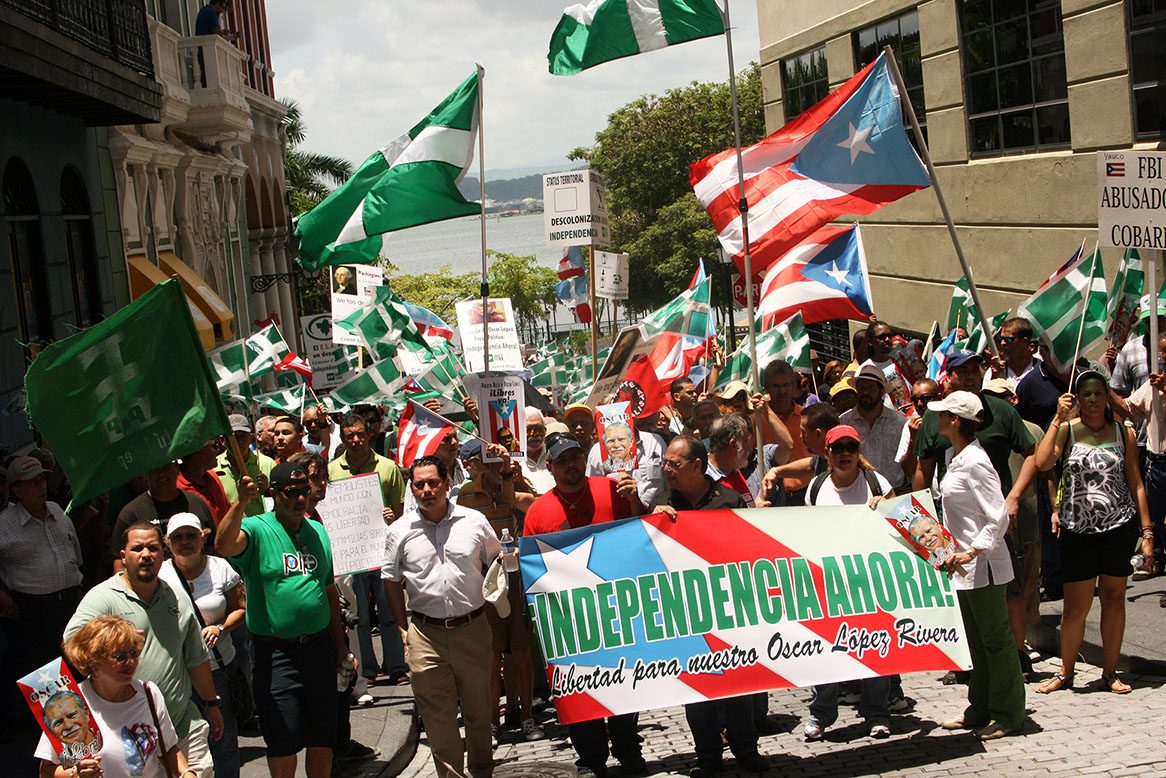 Pro-Independence march in San Juan, Puerto Rico. Source: Caribbean Blog International.