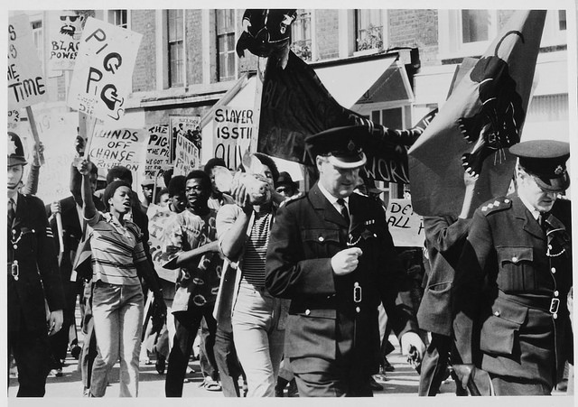 Black Power demonstration and march, Lancaster Road, West London, 1970. Source: British National Archives.