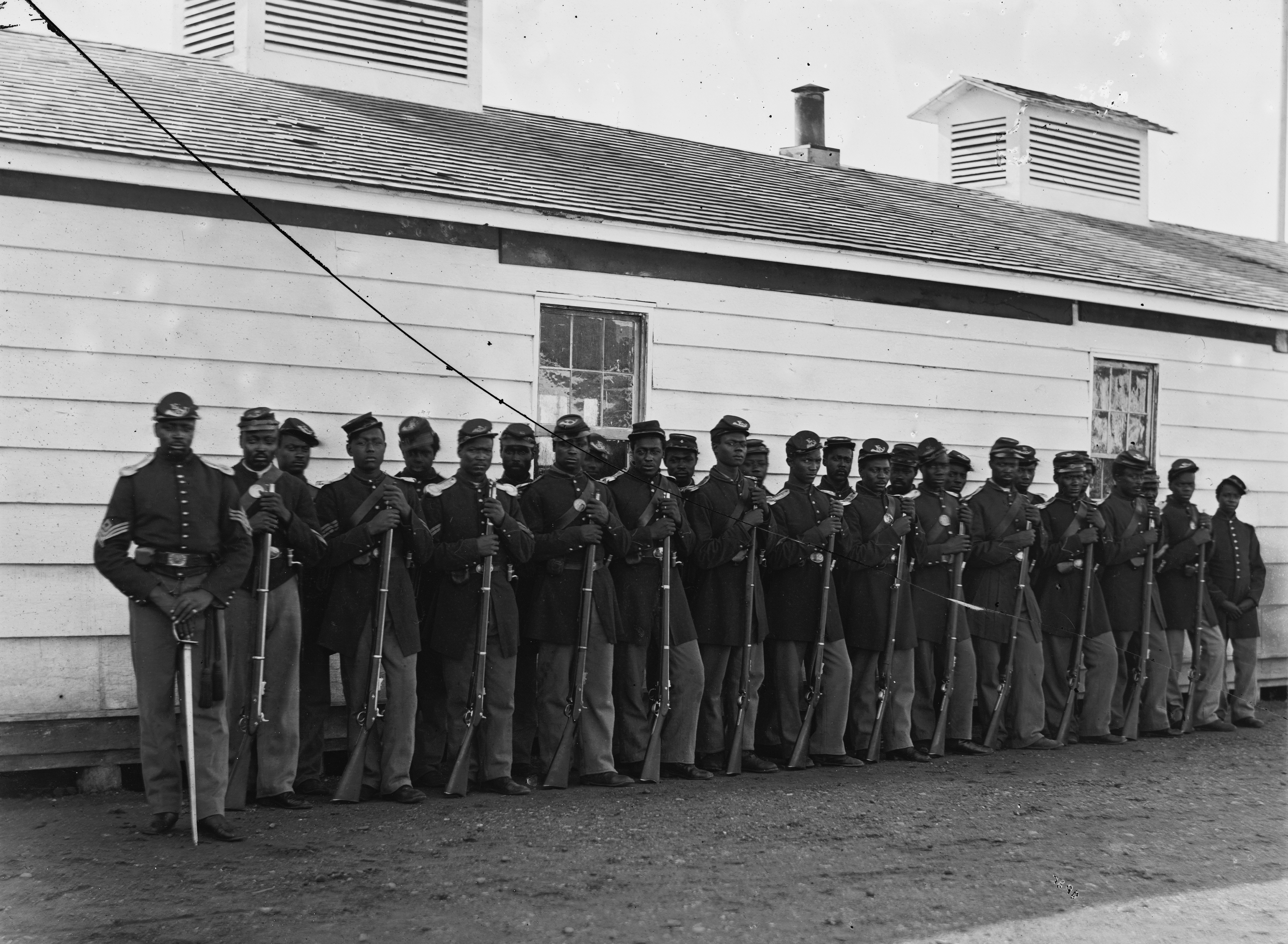 4th United States Colored Infantry. Photo credit: Wikimedia Commons