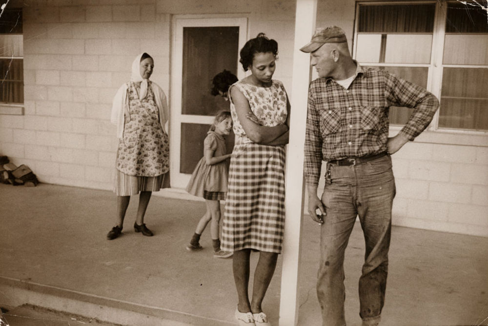 Mildred and Richard Loving on their front porch in King and Queen County, Va. (Image Credit: Grey Villet)