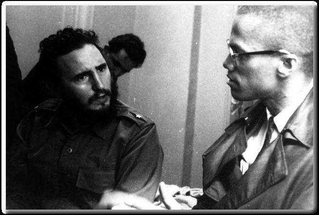 Fidel Castro and Malcolm X. Photo: Carl Nesfield.