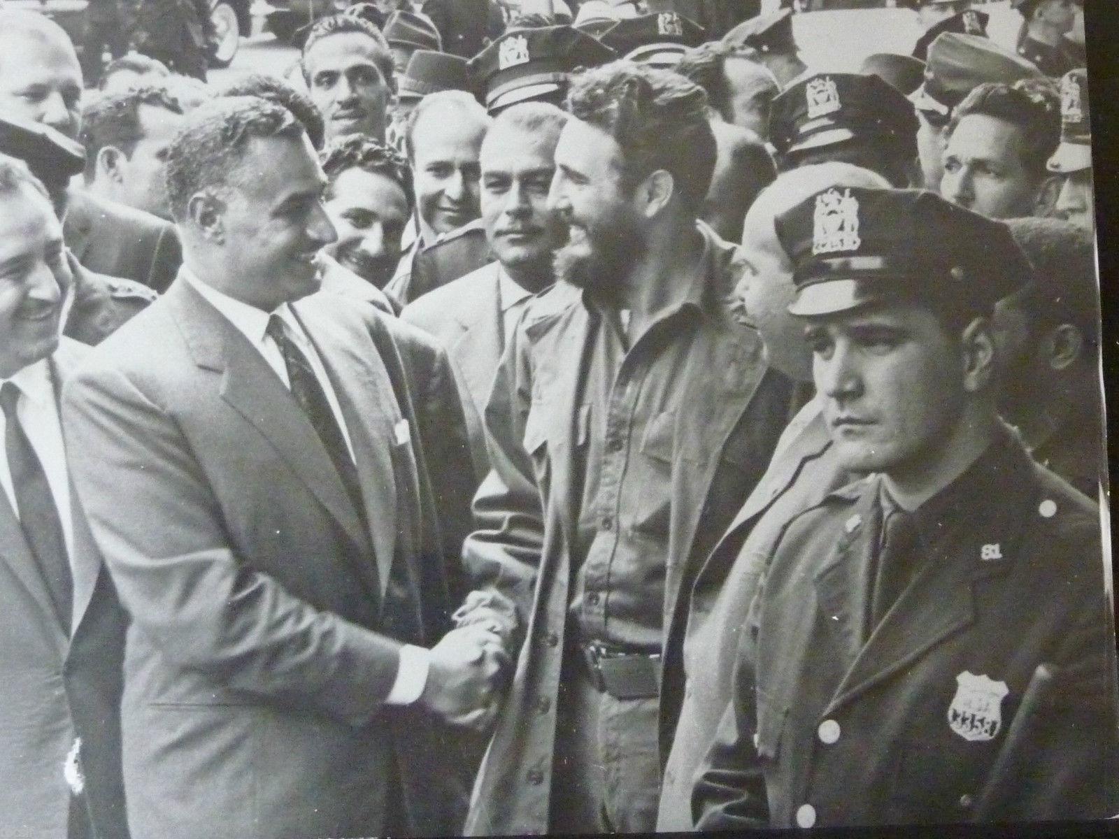 Fidel Castro and Gamal Abdul Nasser in 1960.
