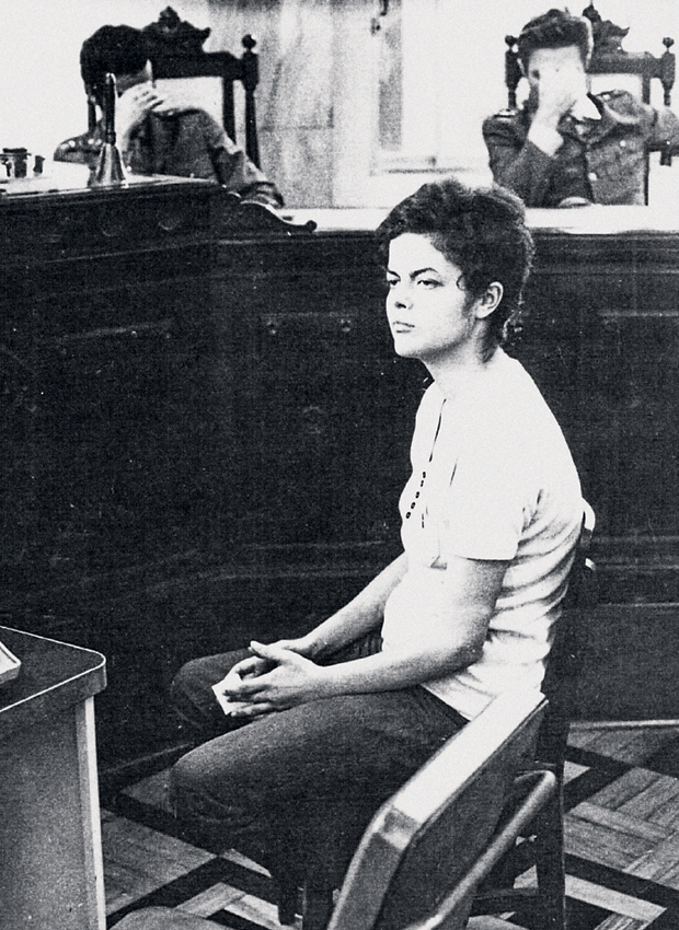 Dilma Rousseff in military court. Photo courtesy of Wikipedia, original housed in the National Archive of Brazil Ministério do Exército Arquivo do Exército Praça Duque de Caxias.