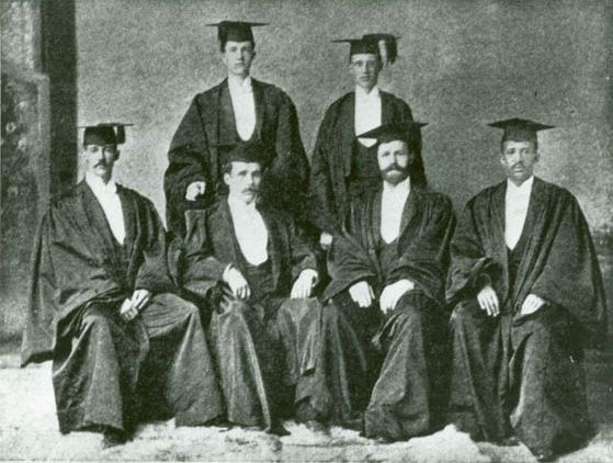 W.E.B. Du Bois (far right) seated alongside fellow commencement orators.