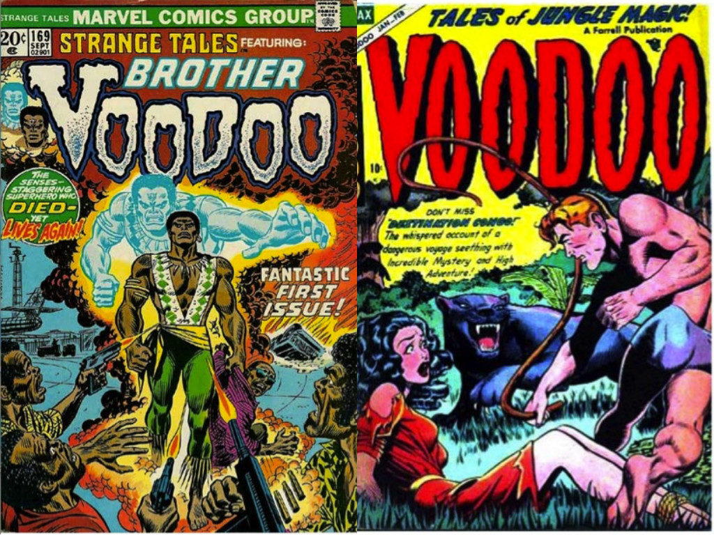 Voodoo Comics, 1973 (left) and 1952 (right).