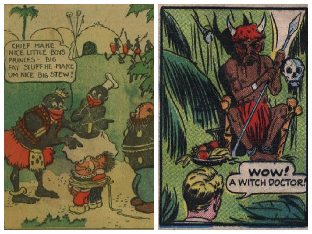 Left: The Katzenjammer Kids, 1906. Right: Jumbo Comics, 1938.