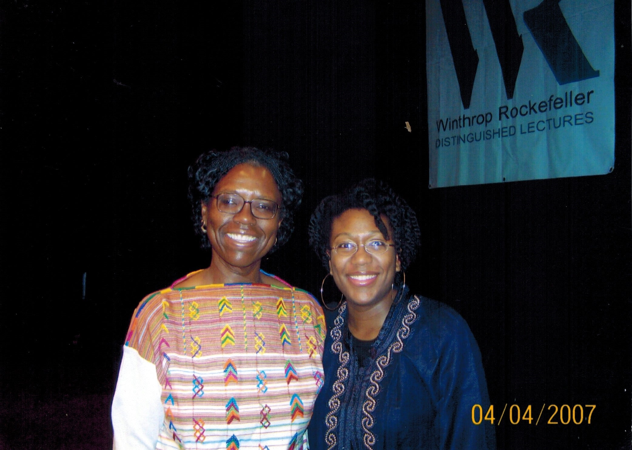 Gloria Naylor (left) with the author, Kami Fletcher (right) in April 2007