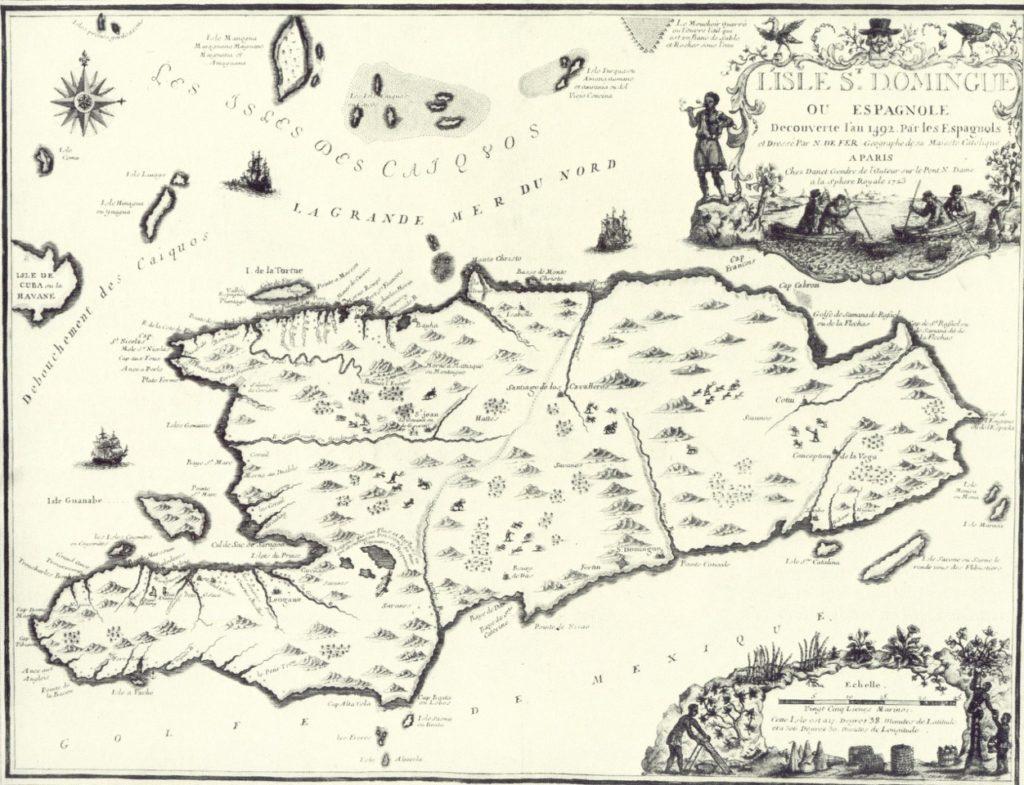 Spanish Map of Hispaniola. Photo: Wikipedia.