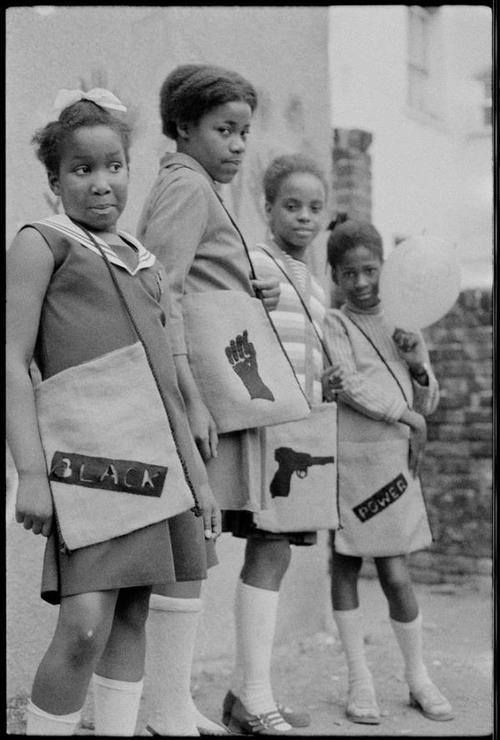 Black Panther School Bags. London, 1970. Source: Neil Kenlock.