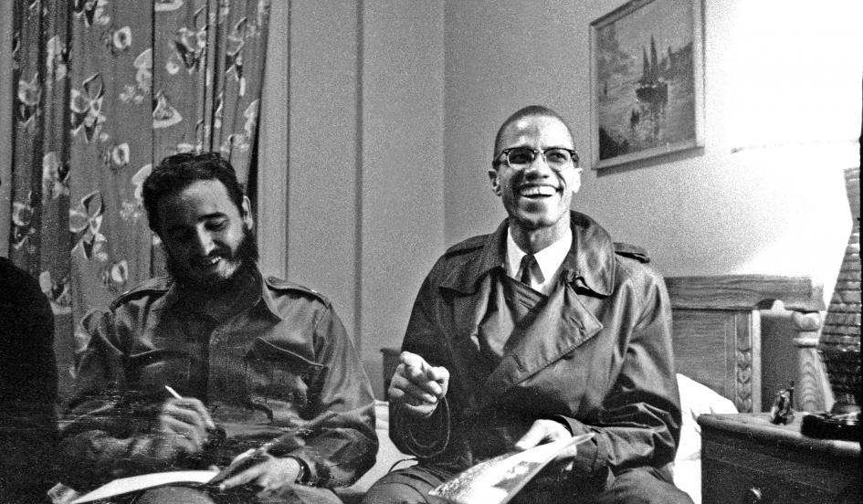 Fidel Castro and Malcolm X. Photo: Carl Nesfield.