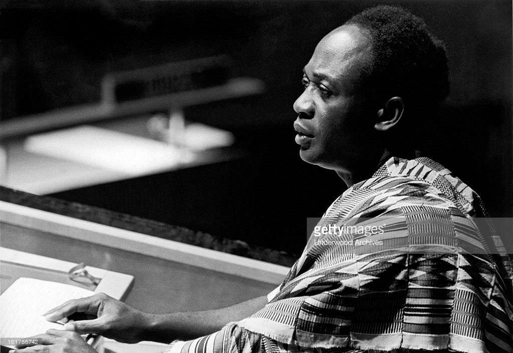 President Kwame Nkrumah of Ghana addresses the General Assembly of the United Nations in New York. New York City, New York: September 23, 1960. (Photo by Underwood Archives/Getty Images)
