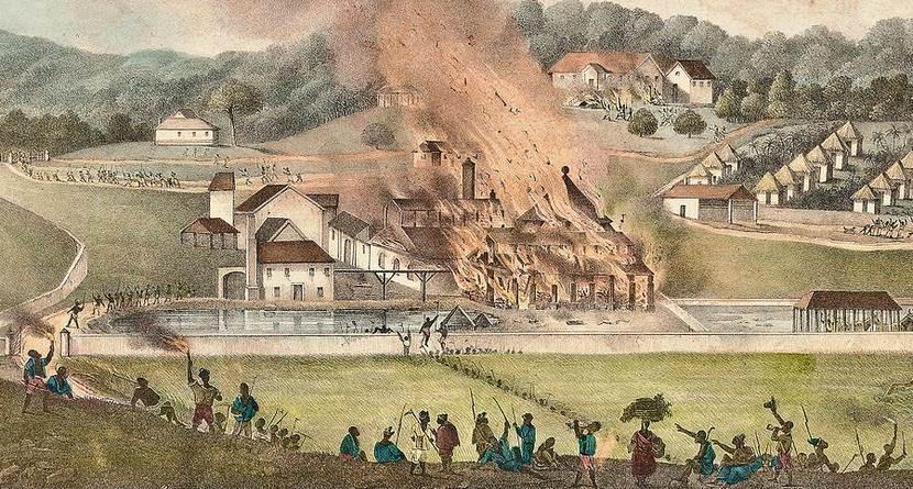 Burning of the Roehampton Estate during the Baptist War, a slave revolt initiated in Jamaica on Christmas Day, 1831