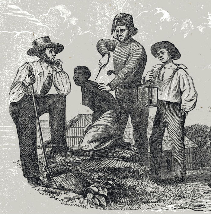 Branding Slaves, 19 century. Source: William O. Blake, The History of Slavery and the Slave Trade (Columbus, 1857), p. 97.