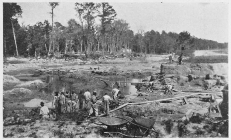 New Hanover County, North Carolina prisoners preparing road materials in 1927 (Photo Credit: North Carolina Chain Gang Collection, Schomburg Center Jean Blackwell Hutson Research and Reference Division)