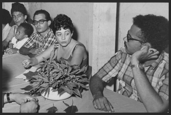 Cordero and Proyecto members at a press conference, following their arrest in February, 1968. Courtesy of the Ana Livia Cordero Papers, Schlesinger Library, Radcliffe Institute, Harvard University