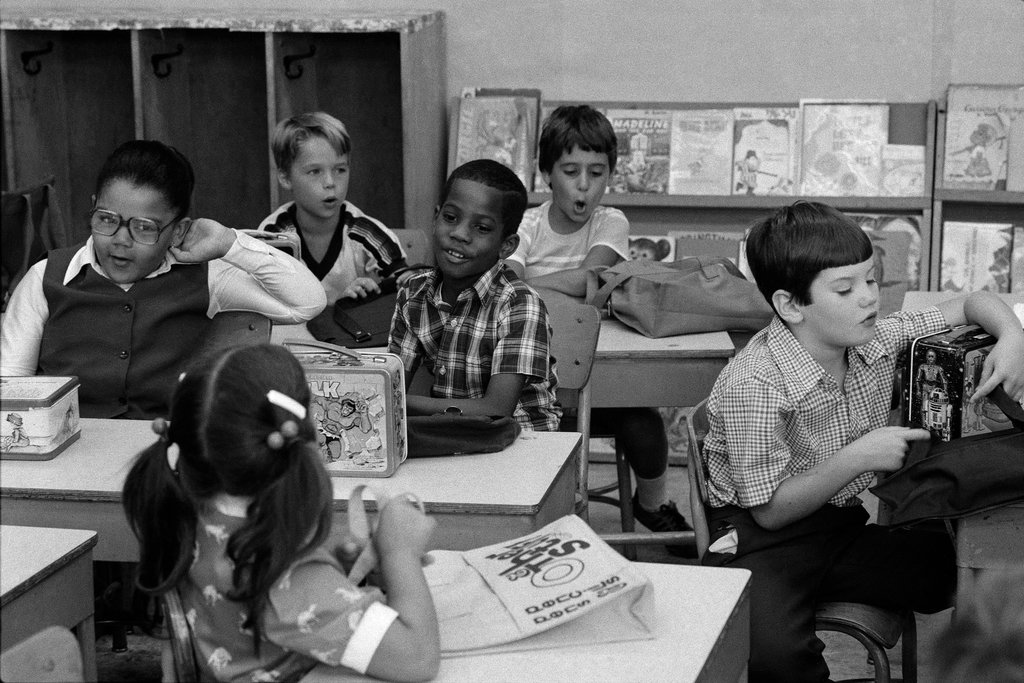 September 1980: Public School 207 in Brooklyn. Photo: Vic DeLucia/The New York Times.
