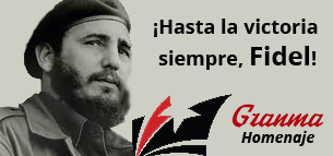 "Caption: Artwork from Granma referencing the last line of Raul Castro's speech announcing his brother's death: ""Hasta la victoria siempre"" (Towards Victory Always) Source: www.granma.cu."