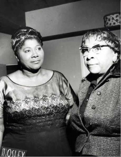 Mahalia Jackson and Shirley Graham DuBois, 1960. Photo Source: Temple University Libraries, the Charles L. Blockson Afro-American Collection via Digital Public Library of America.
