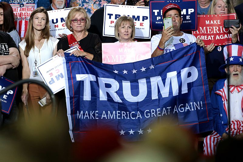 Supporters of Donald Trump at a campaign rally at the Prescott Valley Event Center in Prescott Valley, Arizona, October 4, 2016 (Photo Credit: Gage Skidmore)