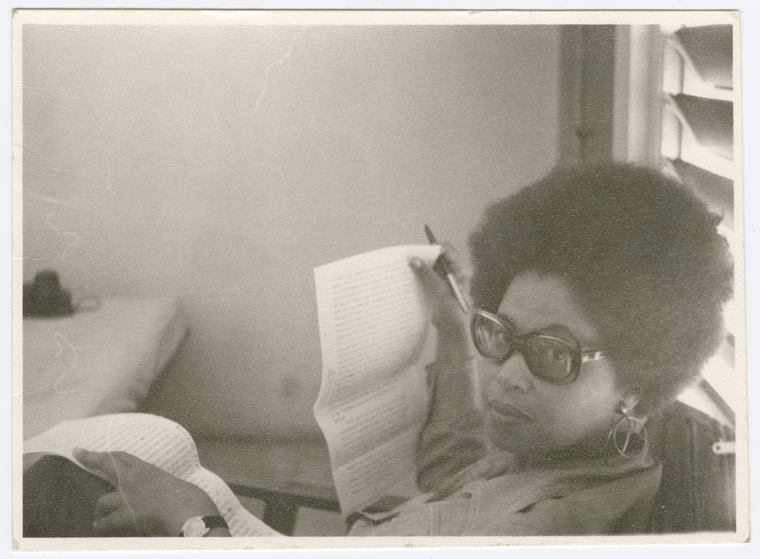 "Schomburg Center for Research in Black Culture, Photographs and Prints Division, The New York Public Library. ""Portrait of Jamaican novelist, dramatist, essayist and academic Sylvia Wynter, circa 1970s."" The New York Public Library Digital Collections. 1970 - 1979. http://digitalcollections.nypl.org/items/957d90f0-f977-0131-3cb4-58d385a7bbd0"
