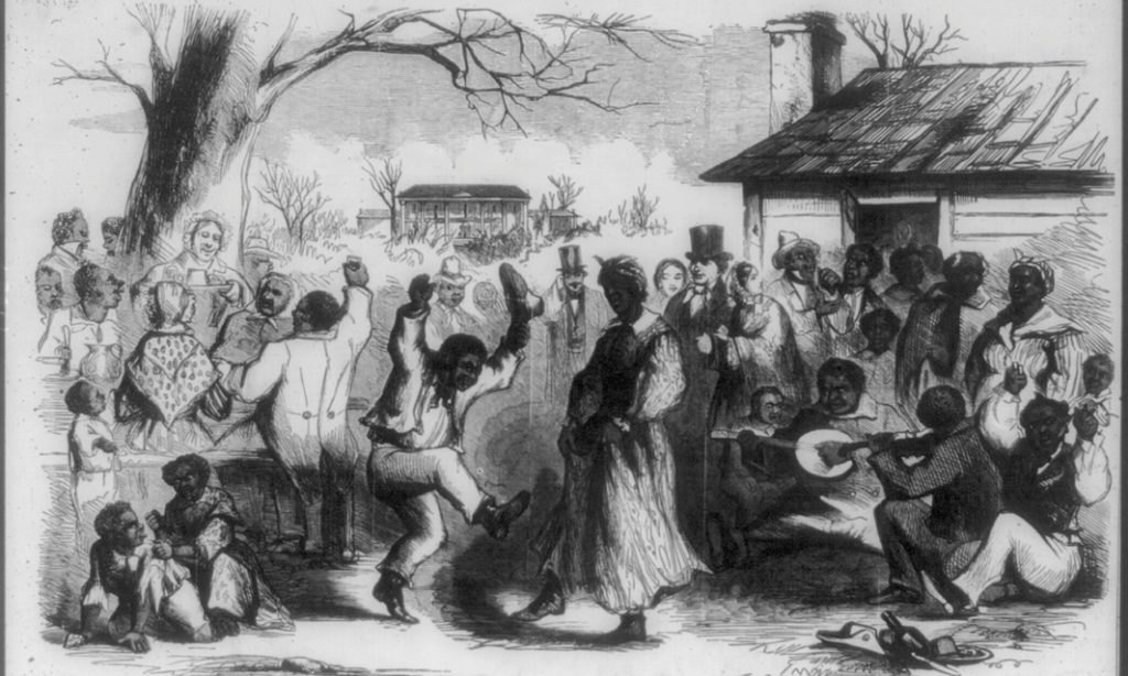 Plantation Frolic on Christmas Eve,' from Frank Leslie's Illustrated Newspaper, 1857 (Source: Library of Congress).