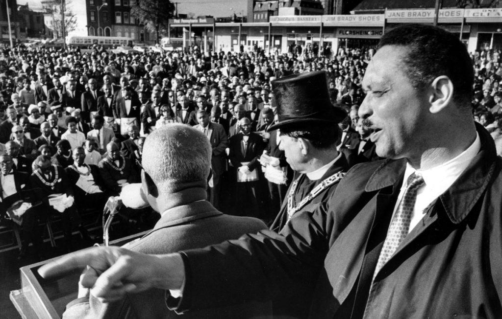 Rev. Leon Sullivan and Rev. Thomas Logan, 1968. Source: Explore PA History.