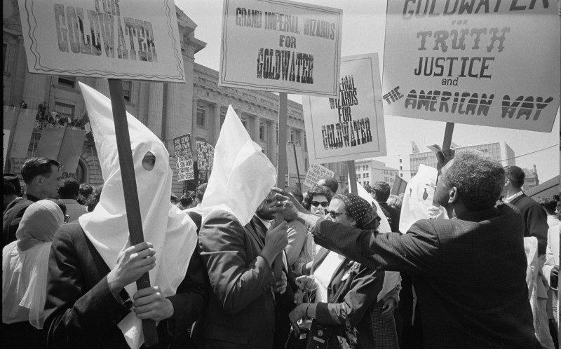 KKK members supporting Barry Goldwater's campaign for the presidential nomination at the 1964 Republican National Convention. Source: Wikipedia.