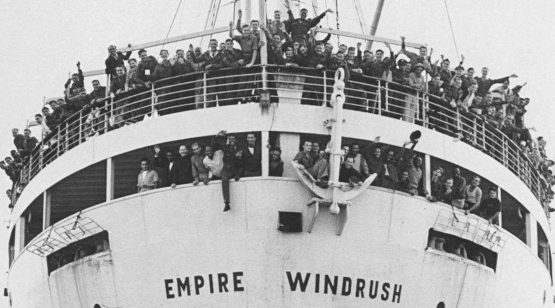 The Empire Windrush. Source: Caribbean National Weekly.