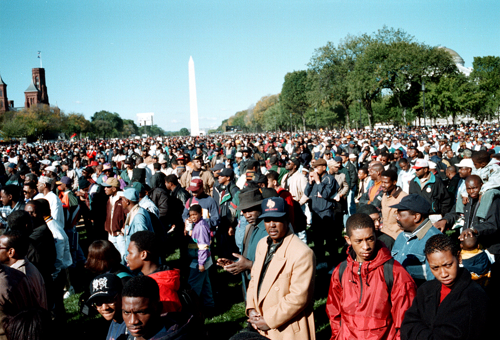 The Million Man March, Washington, DC, October 16, 1995. Source: Wikipedia.