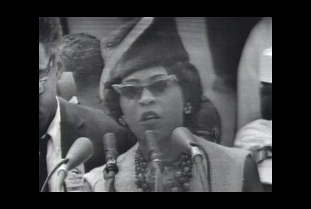 Daisy Bates at the 1963 March on Washington. Source: KFPA.org.