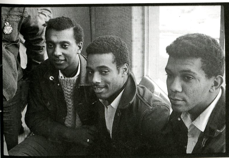 Stokely Carmichael, Charlie Cobb, George Greene at protest in Atlanta, December 1963. Photo: SUNY Geneseo.