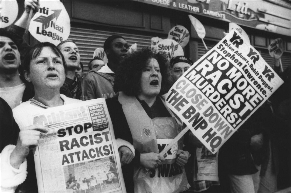 Protests against racist attacks. Photo: The Socialist Party UK.
