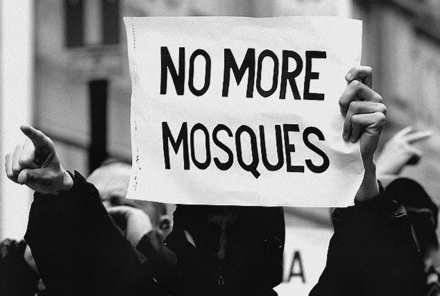 Anti-Islam protest. Photo: Jacobin Magazine.