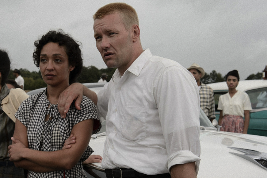 Ruth Negga and Joel Edgerton as Mildred and Richard in Loving (2016). Photo: Ben Rothstein/Big Beach Films via AP.