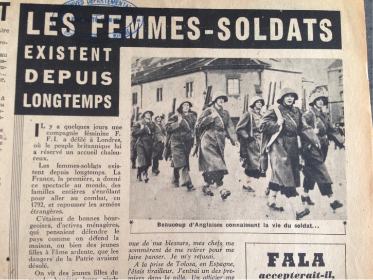 Newspaper clipping from La Marseillaise, Dec. 29, 1944.