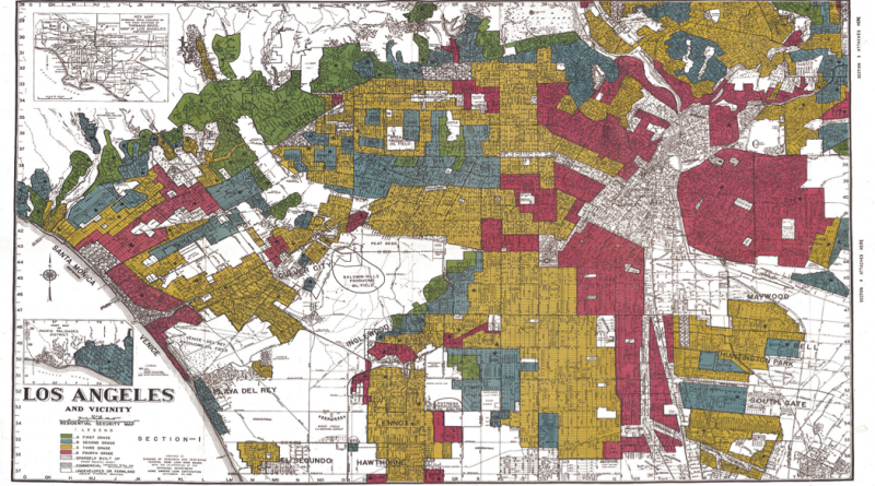 """HOLC Residential Security Map,"" Los Angeles, 1939."