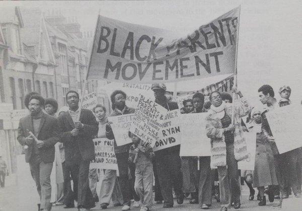 The Black Parents Movement, 1975. Photo: Twitter/No Colour Bar.
