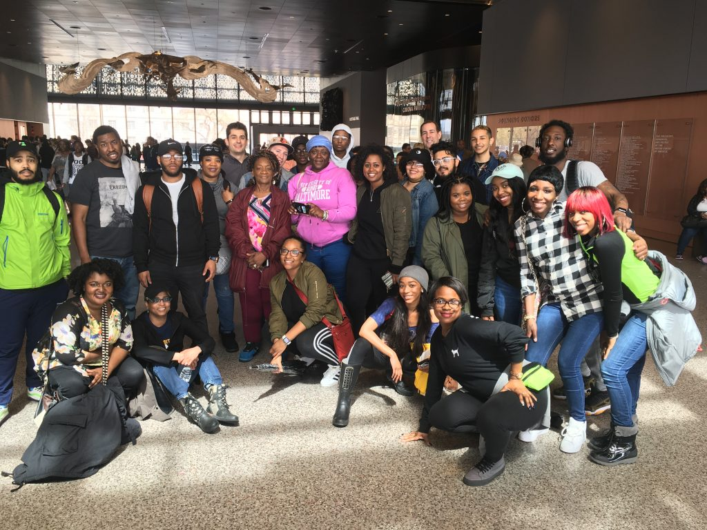 University of Baltimore students on class trip to the NMAAHC. Photo: Author.