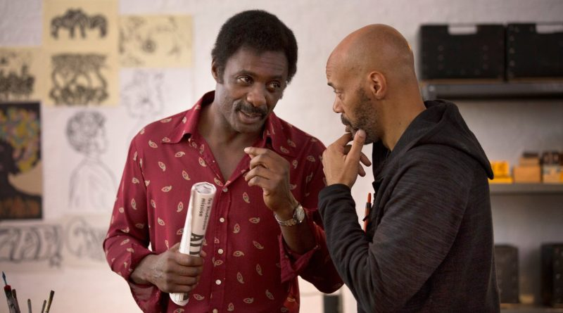 Idris Elba and John Ridley on the set of Guerrilla. Photo: IMDB.