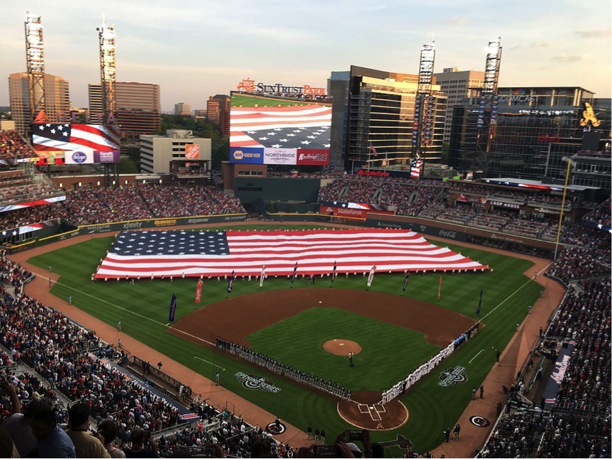 Opening Day, SunTrust Field, Cobb County, Georgia. 2017. Photo: Wikipedia.