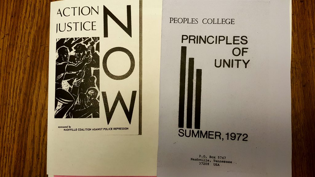 A publication of the Peoples College Press. Photo: Author.