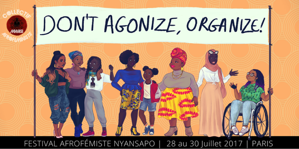 Poster for the Festival Afrofémiste Nyansapo. Photo: Mwasi Collectif Afroféministe.