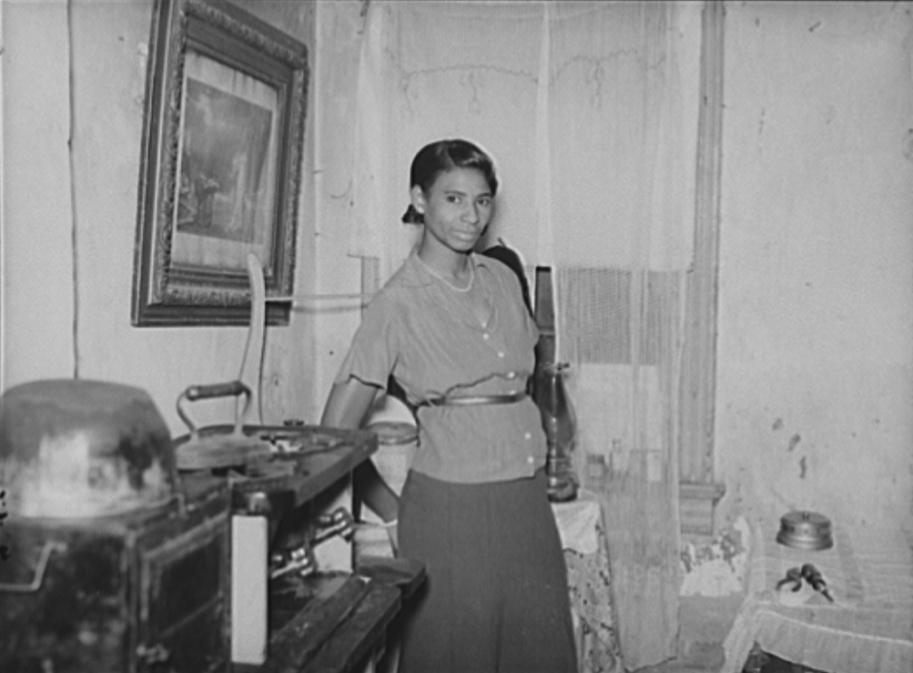 Negro in Washington slum area, D.C., Oct. 1937. Arthur Rothstein, photographer. Photo: Library of Congress.